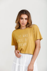 Dream Cropped Tee - Honey
