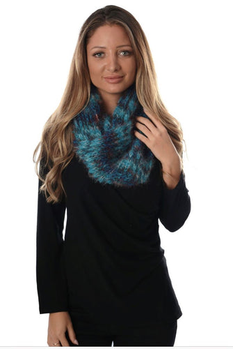 Indian blue Infinity Scarf