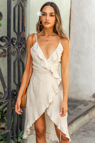 Natural Bahama Linen Dress
