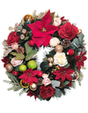 Festive Charm Wreath (with artificial silk flowers + foliage)