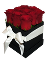 Red  Rose Bloom Box w Fresh Roses