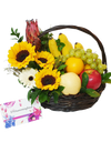 Sunflower Fruit Basket with Handle