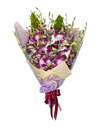 Exotic Delux Mokara Purple Orchid Bouquet
