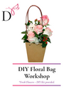 Online Workshop 2 Tone Roses in Flower Bag w Mini Bear