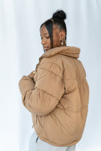 Load image into Gallery viewer, Caramel Boyfriend Puffer Jacket