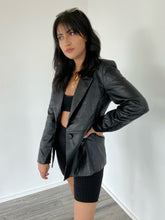 Load image into Gallery viewer, Unfinished Business Faux Leather Blazer