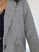 Load image into Gallery viewer, It's Just Business Oversized Houndstooth Jacket
