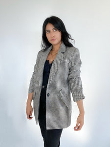 It's Just Business Oversized Houndstooth Jacket