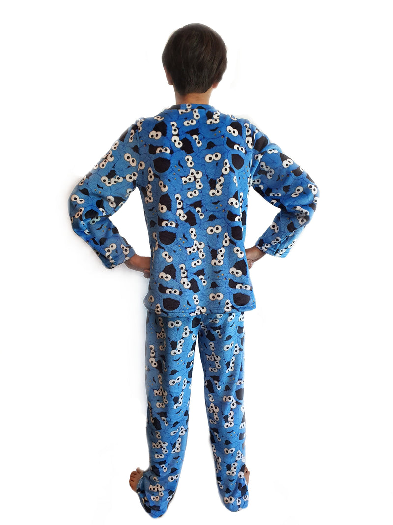 Set Pijama Sésamo Street Cookie Monster Niño Niña