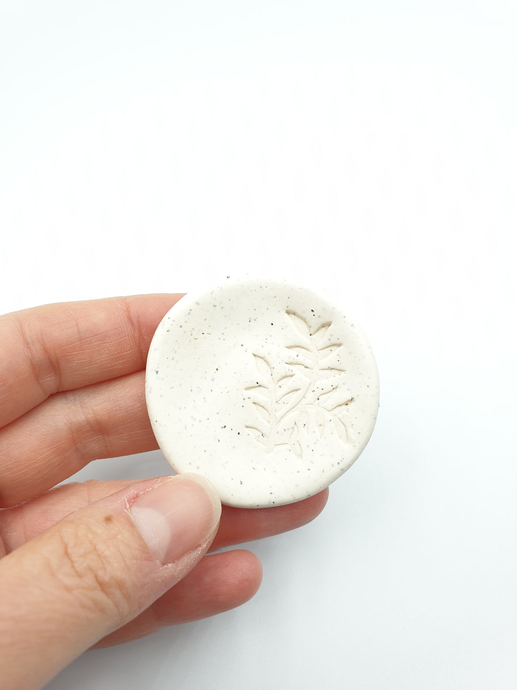 Botanical imprint ring dish - forest branch