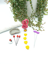Load image into Gallery viewer, Miniature garden starter kit - shimmery hot pink