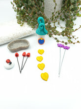 Load image into Gallery viewer, Miniature garden starter kit - turquoise blue
