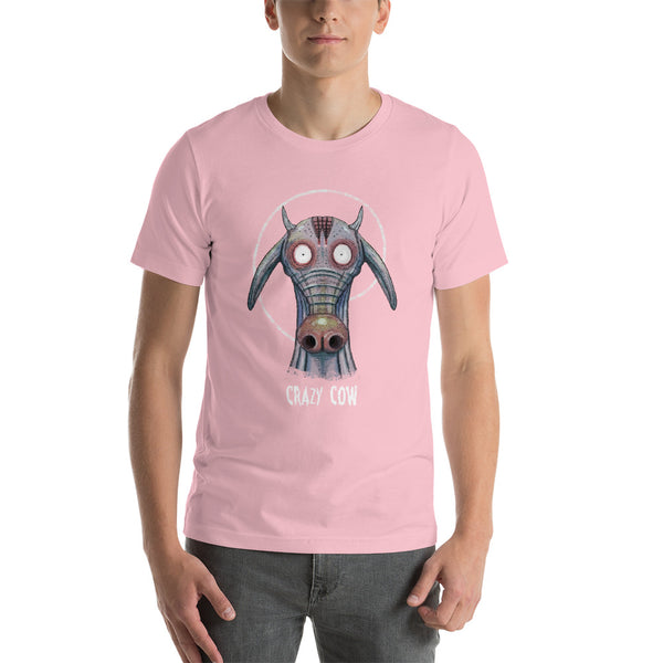 Crazy cow Unisex T-Shirt - Pink