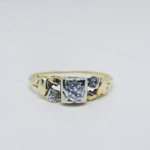 Jewel Thierry Vintage Diamond and 14K Gold Rings