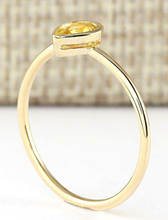 Load image into Gallery viewer, Jewel Thierry 0.52 CTW Natural Yellow Sapphire Ring in 14K Yellow