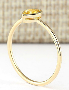 Jewel Thierry 0.52 CTW Natural Yellow Sapphire Ring in 14K Yellow
