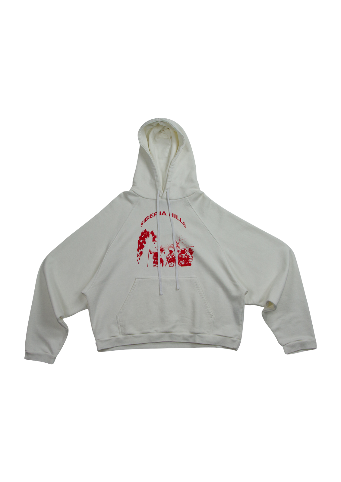 Batwing Hoodie - White/Red