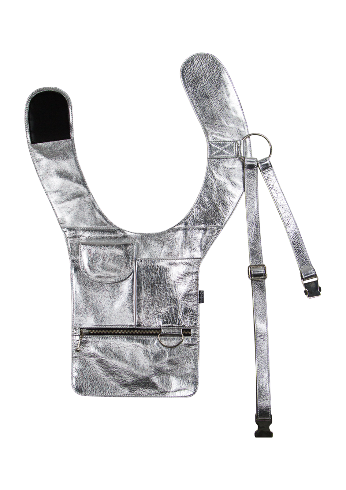 Leather Bondage Holster - Silver