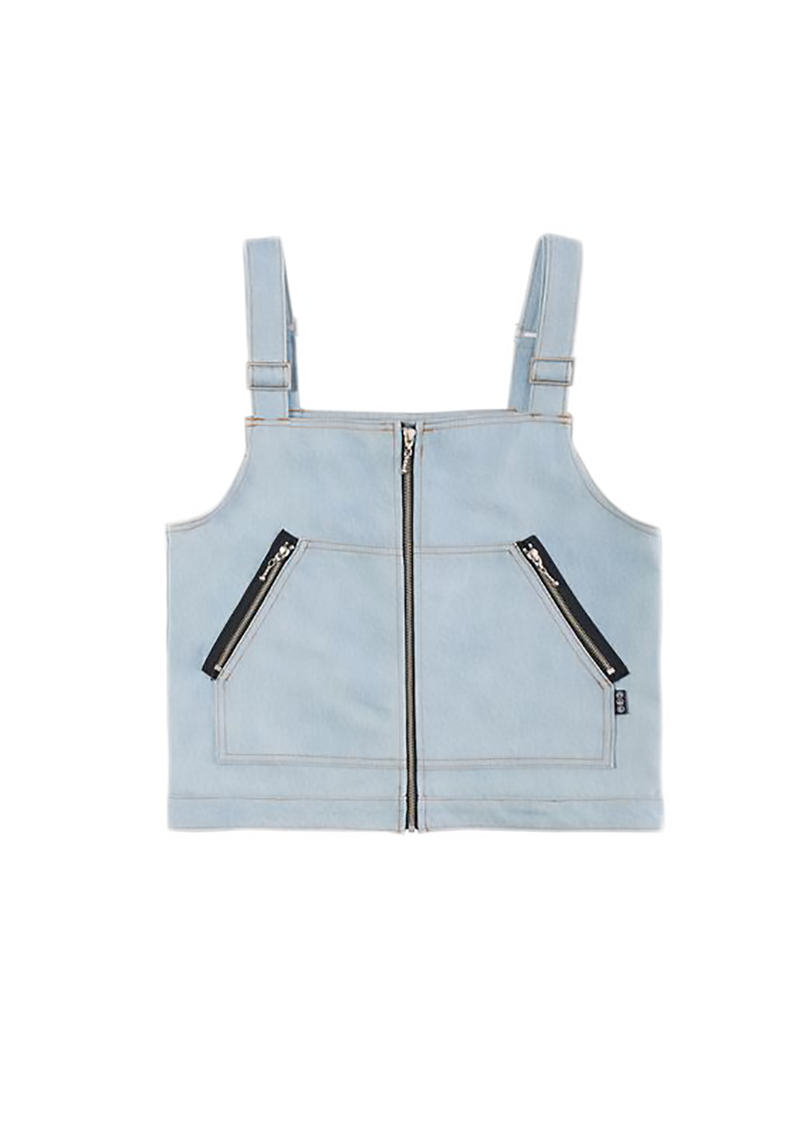 Denim Cargo Gilet Vest - Blue