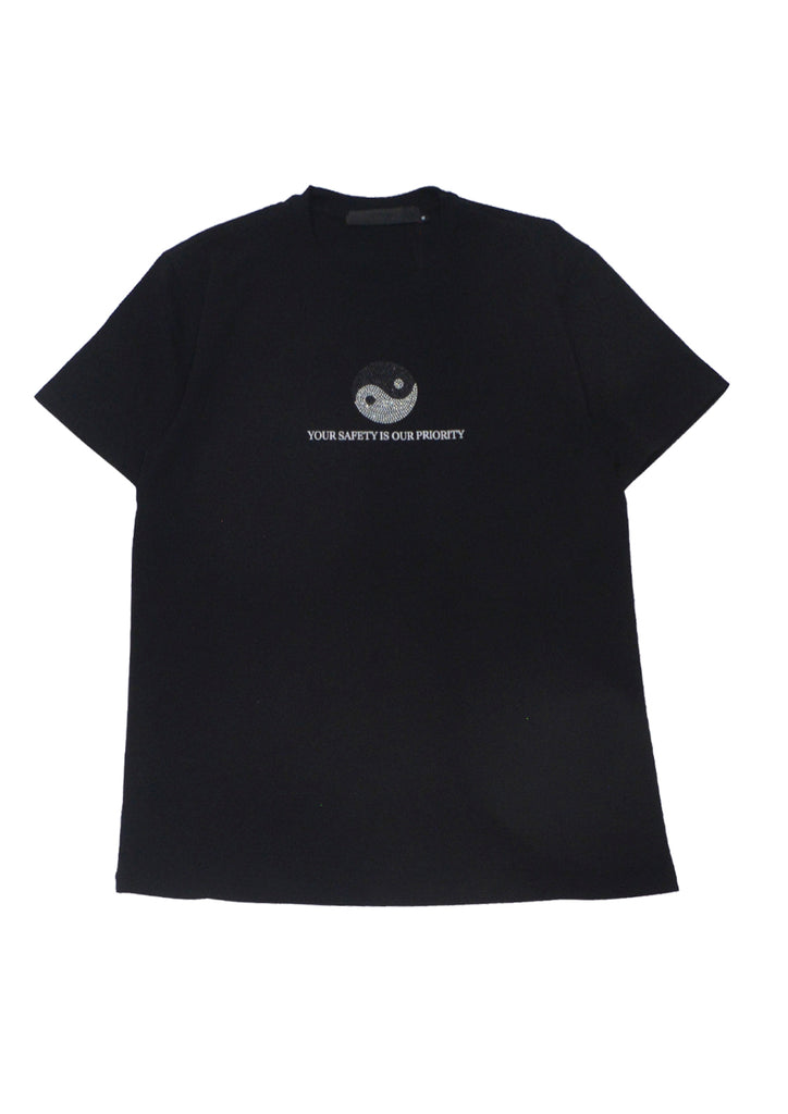 'Your Safety is Our Priority' Rhinestone Tee