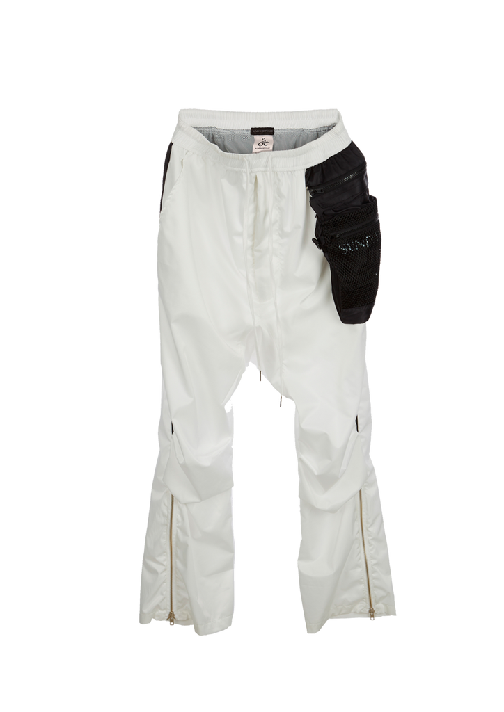 Monochrome  Drop Crotch Pants - White