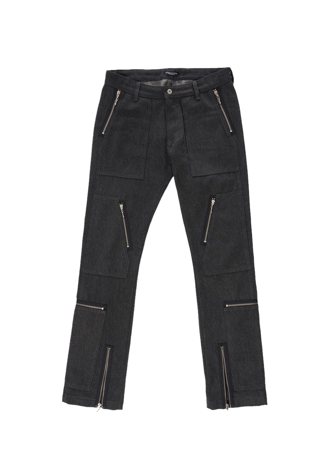 Denim Cargo Slim Fit Jeans - Black