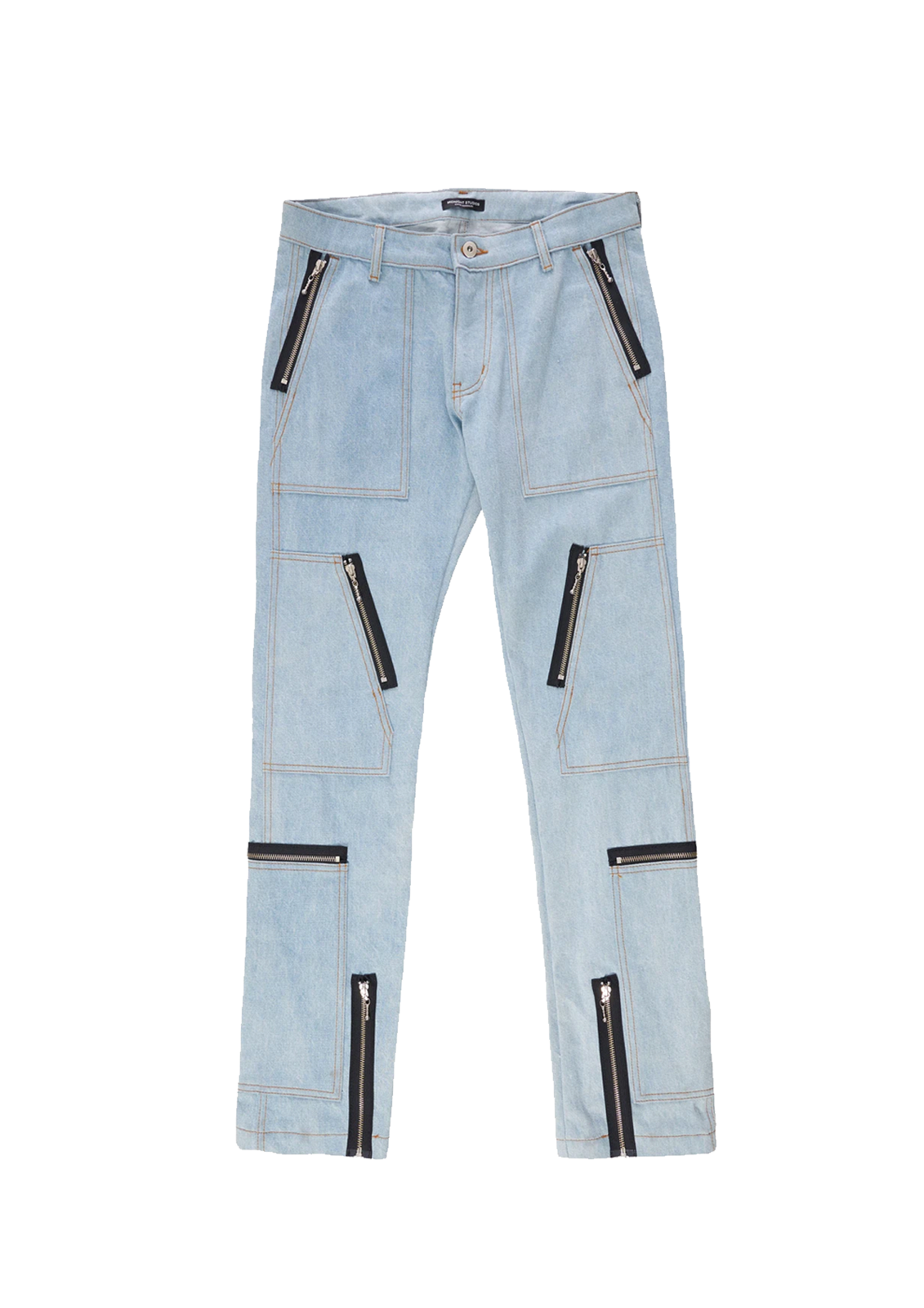 Denim Cargo Slim Fit Jeans - Blue