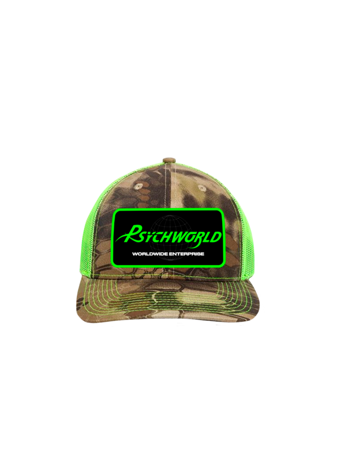 Psychworld Snake Camo Trucker Hat