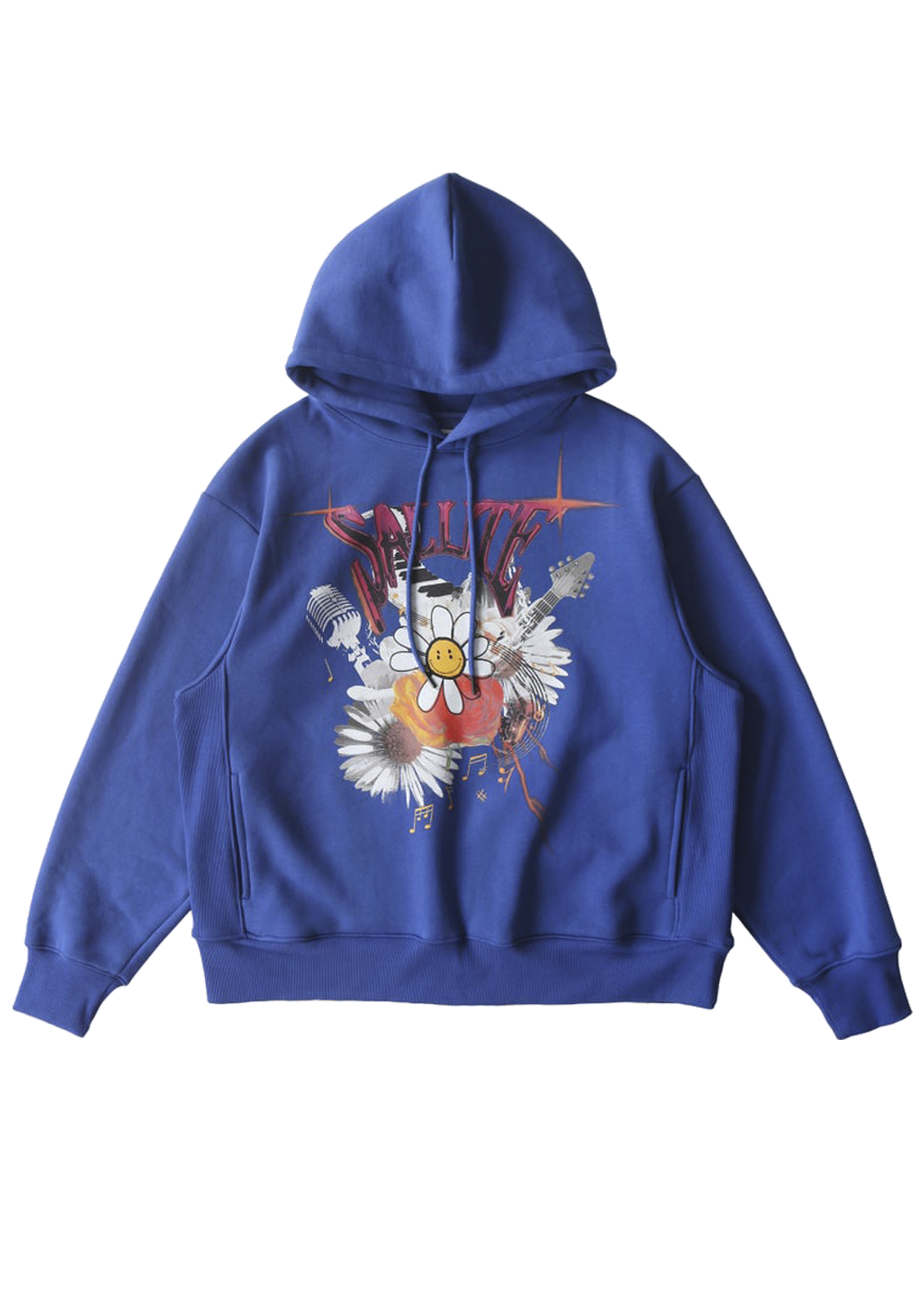 Salute Academy Washed Flower Hoodie - Blue