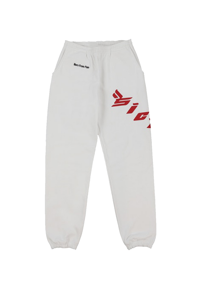 Born From Pain Sweatpants - White