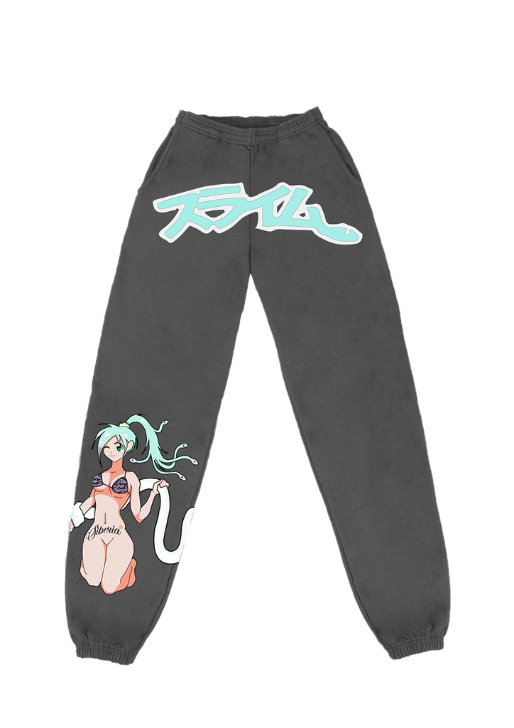 Slime Anime Sweatpants - Black/Mint