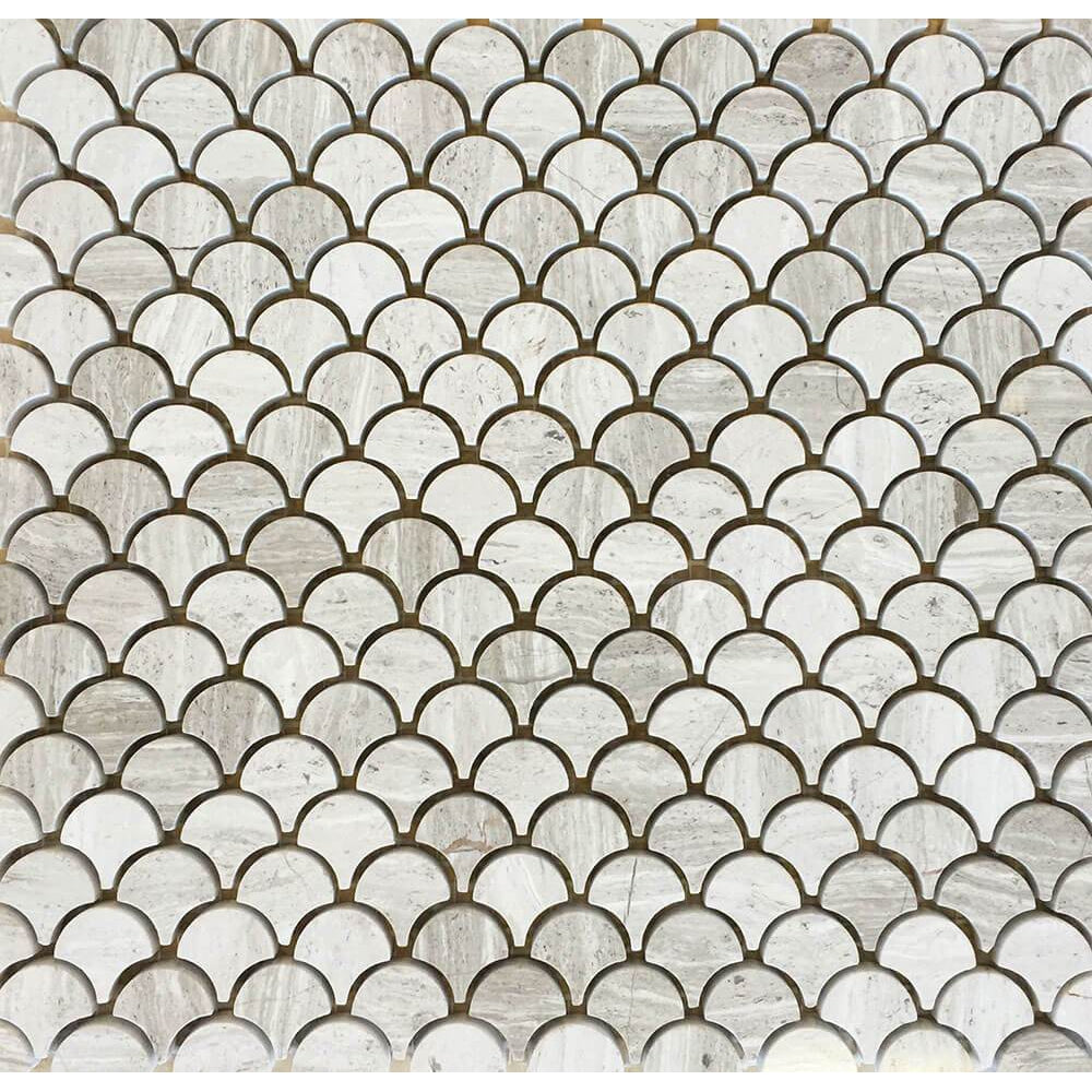Timber White Water Jet Mosaic Petite Design