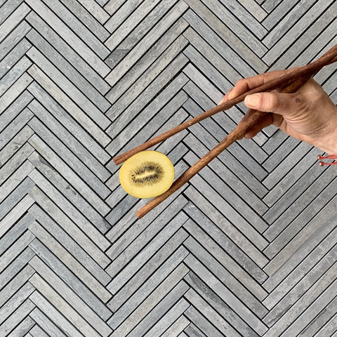 Bluewood Herringbone Honed Tile