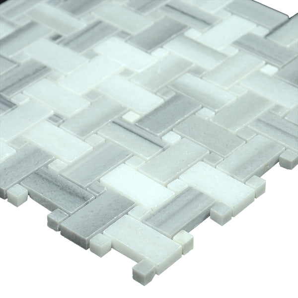 Equator Marmara Marble Polished Basketweave With Equator Polished