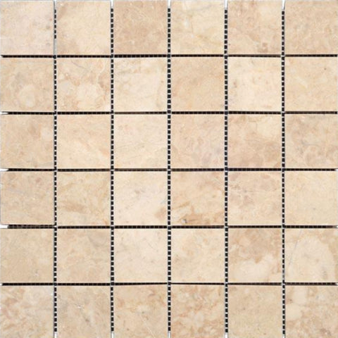 Cappuccino Polished Marble 2x2 Square Mosaic Tile