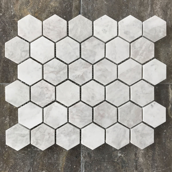 "Alicha Hexagon 2"" Polished Mosaic"