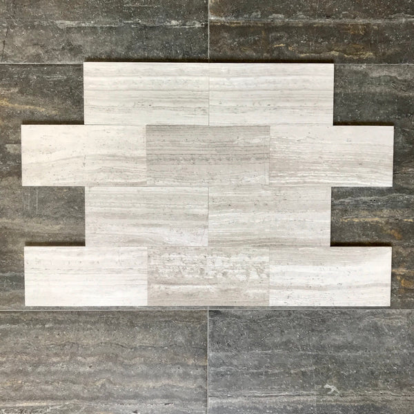 Timber White Marble 6x12 Wall And Floor Tile