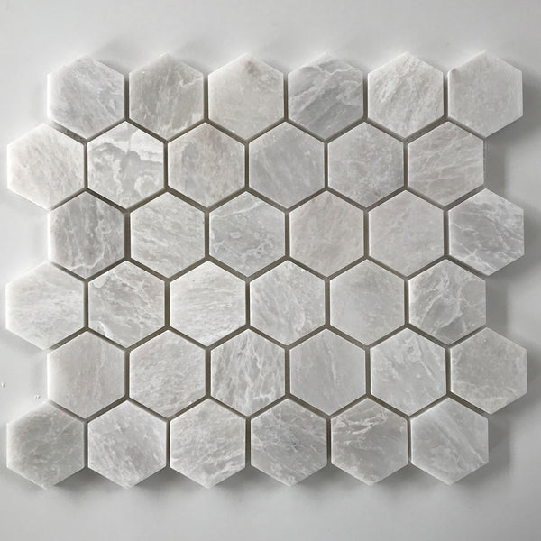 "Ice Berg Hexagon 2"" Polished Mosaic"