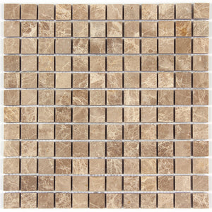 Light Emperador Marble 1x1 Polished Square Mosaic