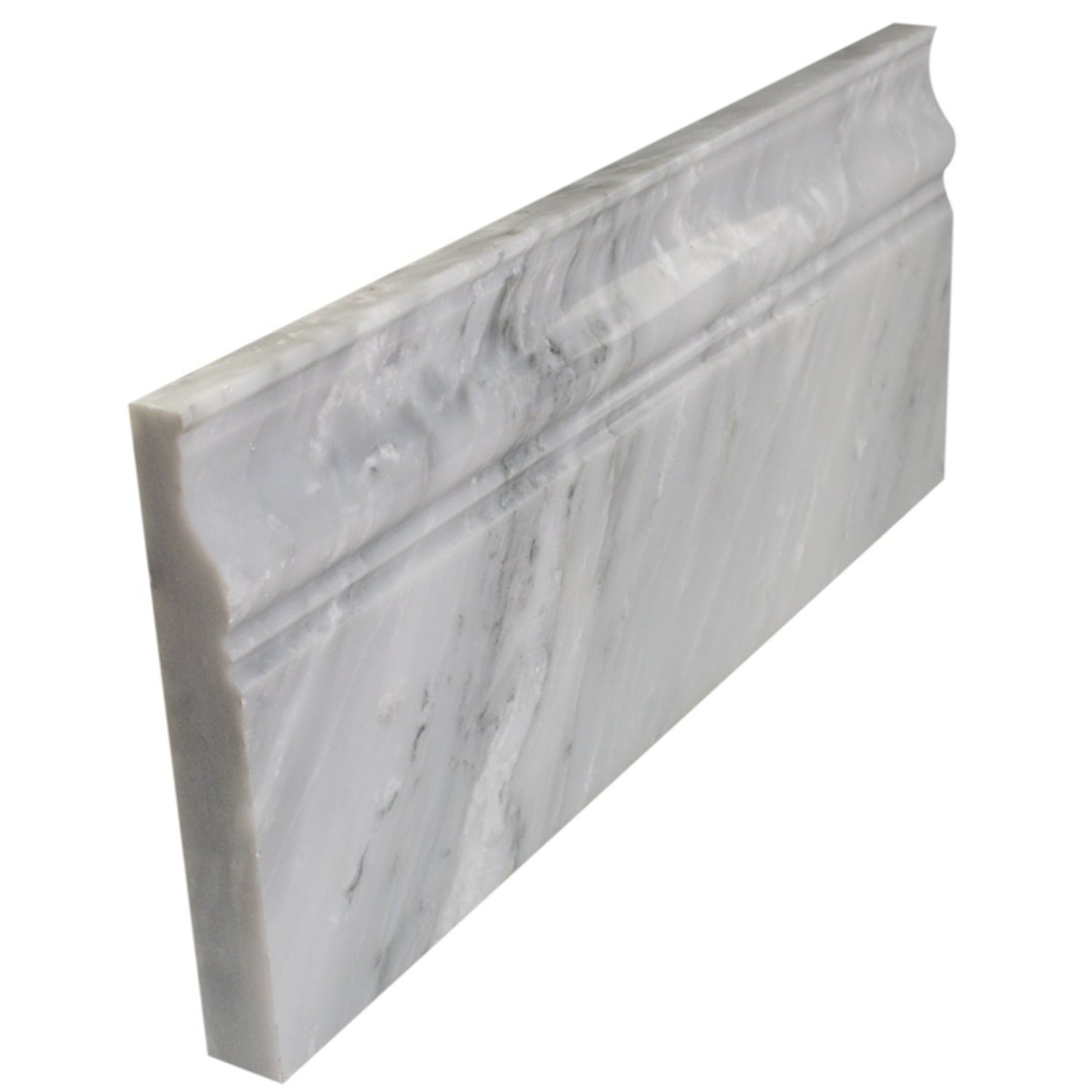 Arabescato Carrara Honed / Polished 5x12 Base Moulding Marble