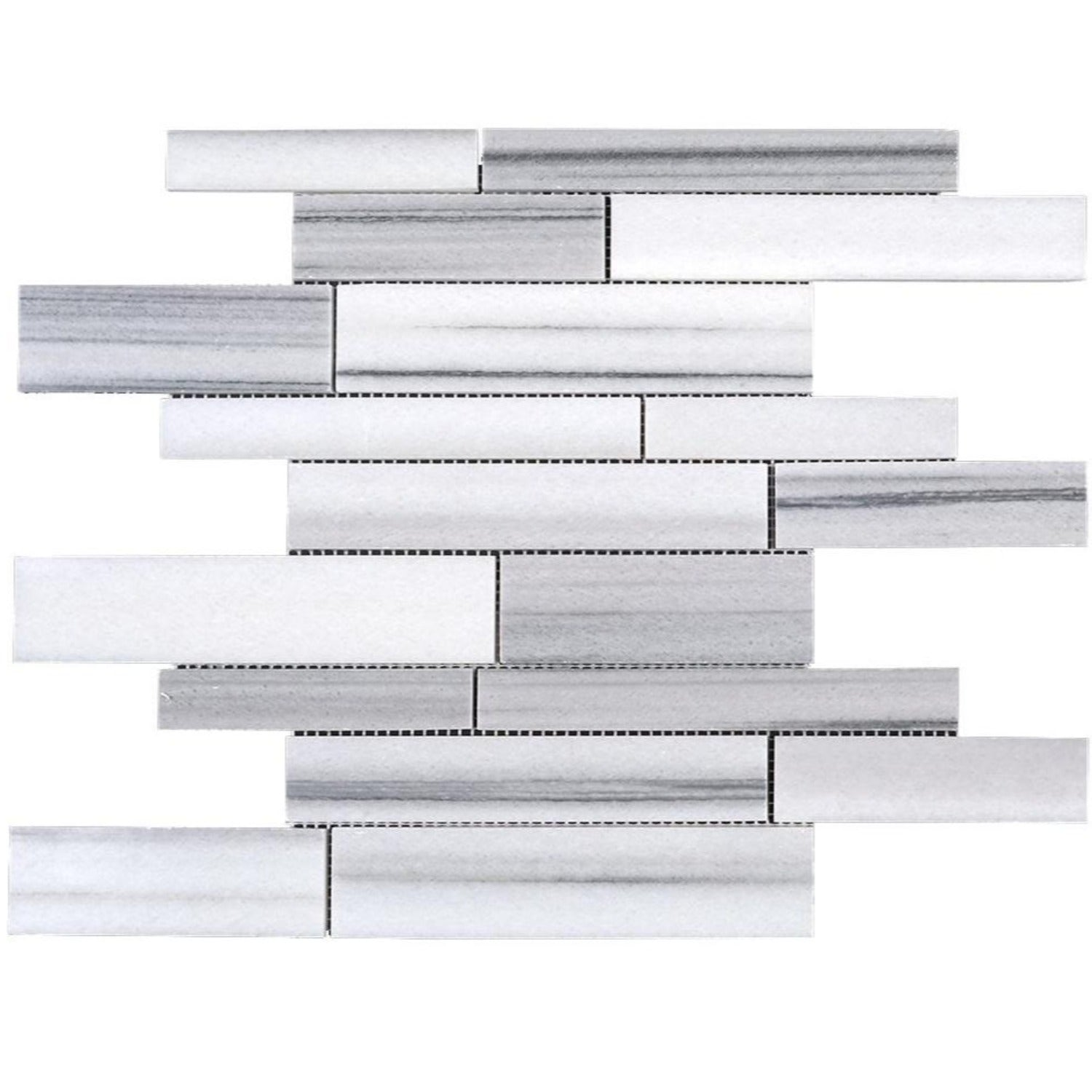 Equator Marmara Marble Polished Random Strip Mosaic