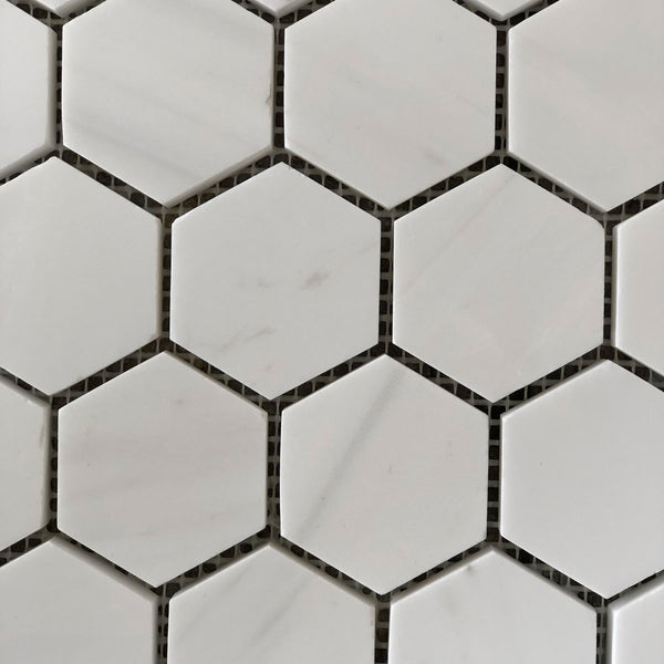 "Dolomite Hexagon 2"" Polished Mosaic"