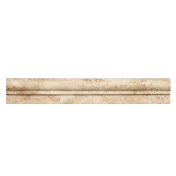 Cappuccino Polished Marble Ogee-1 Chair Rail 2x12 Moulding