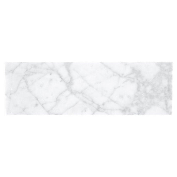 Bianco Carrara 4x12 Polished Marble Tiles