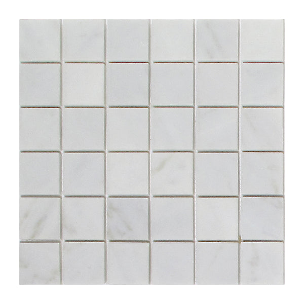 Arabescato Carrara 2x2 Honed and Polished Marble Mosaic