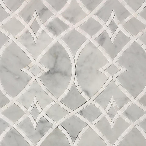 Lace I Mother Of Pearl Waterjet Mosaic