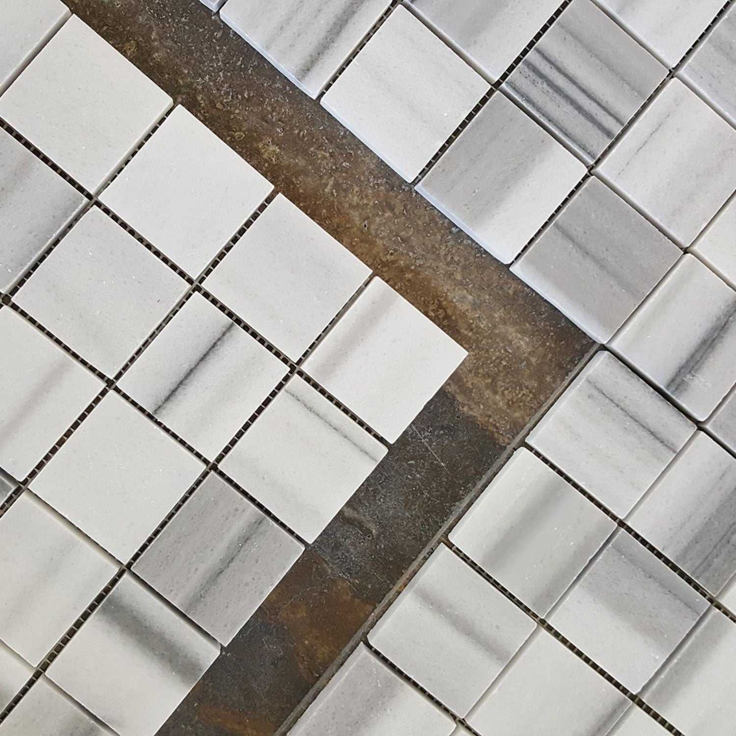 Equator Marmara Marble Polished 2x2 Square Mosaic Tile