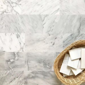 Arabescato Carrara 6x12 Honed and Polished Marble Tile