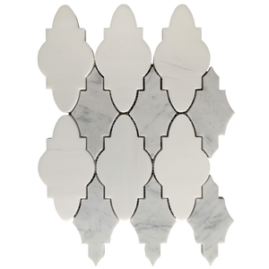 Elisa Waterjet Mosaic Dolomite and Carrara