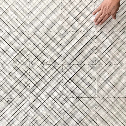 MATRIX WATERJET MOSAIC THASSOS AND CARRARA